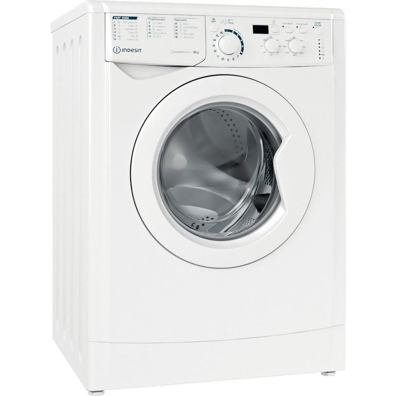 Indesit-Washing-machine-Free-standing-EWD-81483-W-UK-N-White-Front-loader-D-Perspective