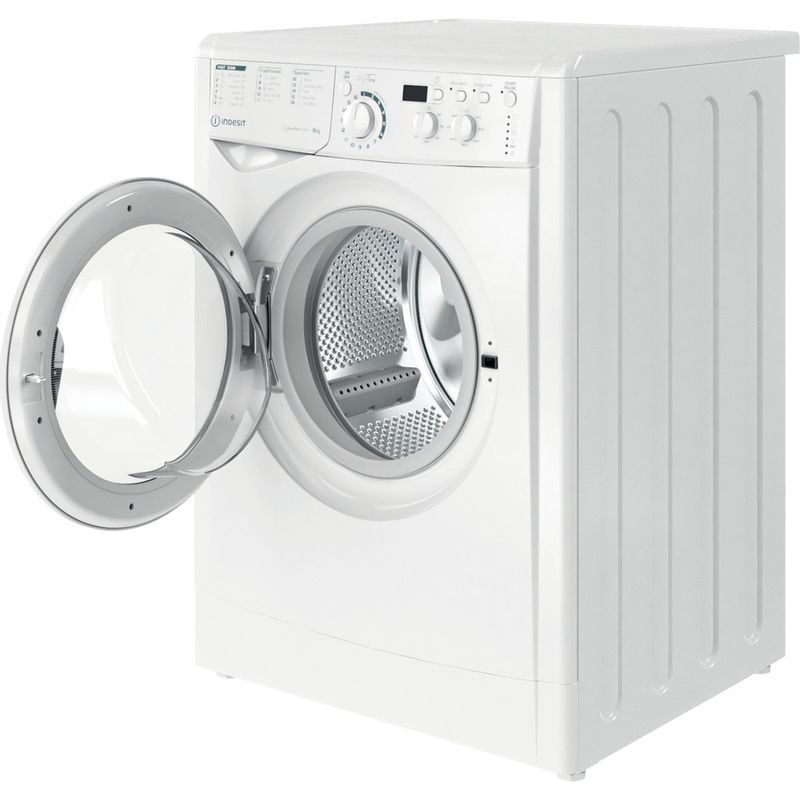 Indesit-Washing-machine-Free-standing-EWD-81483-W-UK-N-White-Front-loader-D-Perspective-open