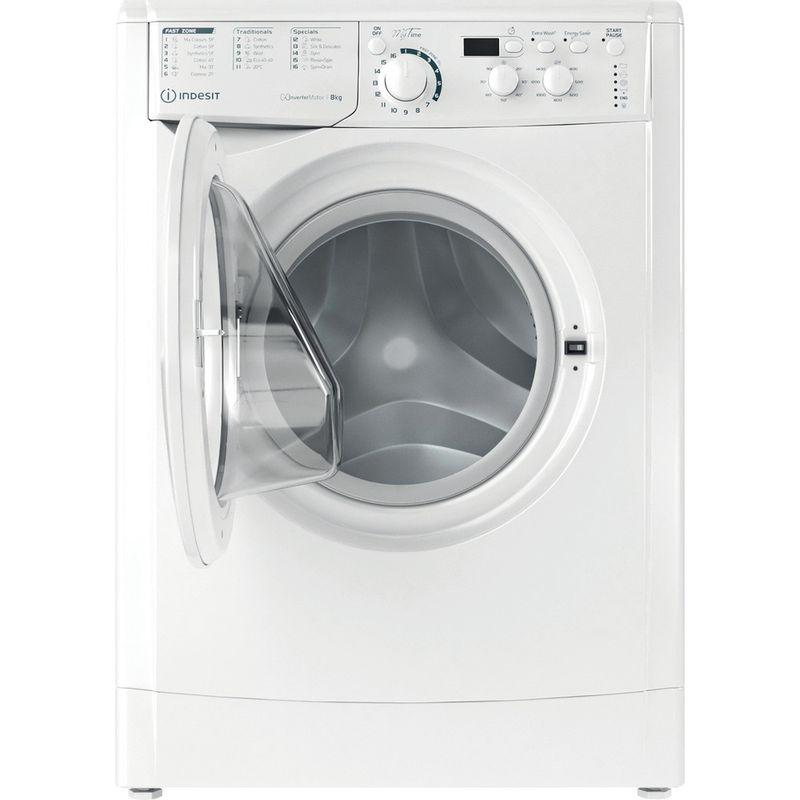 Indesit-Washing-machine-Free-standing-EWD-81483-W-UK-N-White-Front-loader-D-Frontal-open