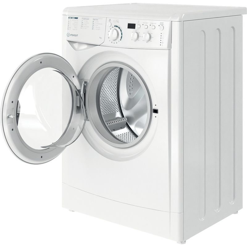 Indesit-Washing-machine-Free-standing-EWD-71452-W-UK-N-White-Front-loader-E-Perspective-open