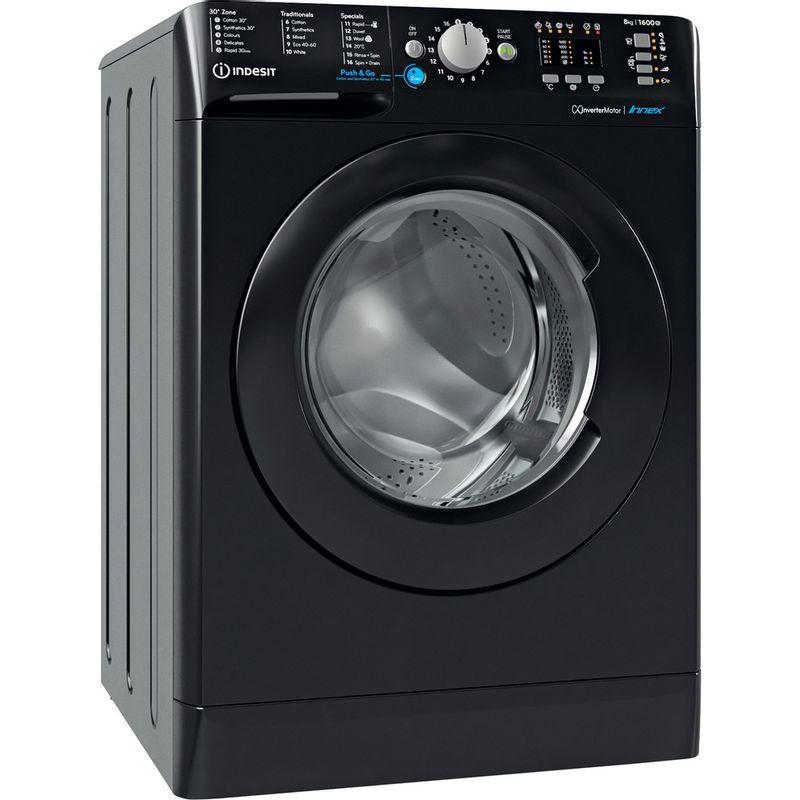 Indesit-Washing-machine-Free-standing-BWA-81683X-K-UK-N-Black-Front-loader-D-Perspective
