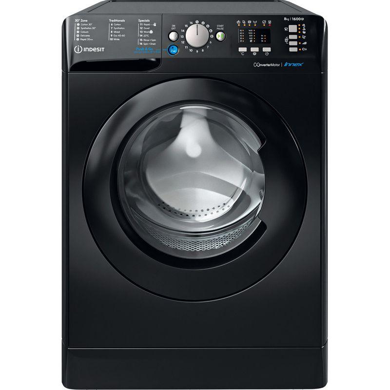 Indesit-Washing-machine-Free-standing-BWA-81683X-K-UK-N-Black-Front-loader-D-Frontal