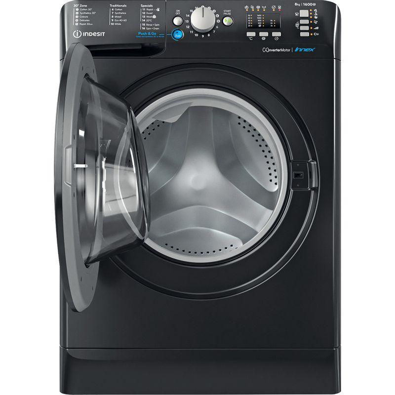 Indesit-Washing-machine-Free-standing-BWA-81683X-K-UK-N-Black-Front-loader-D-Frontal-open