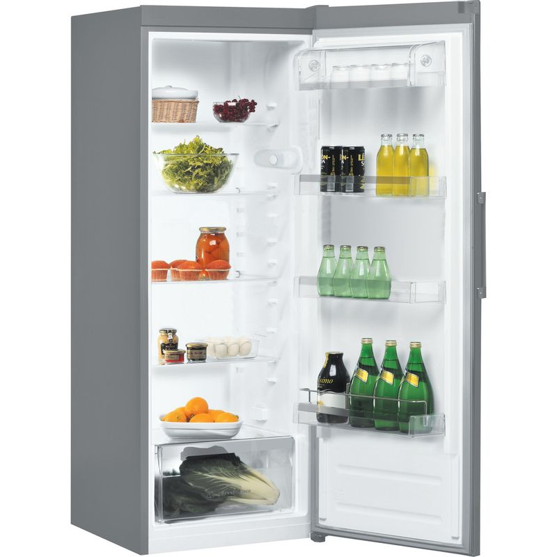 Indesit-Refrigerator-Free-standing-SI6-1-S-1-Silver-Perspective-open