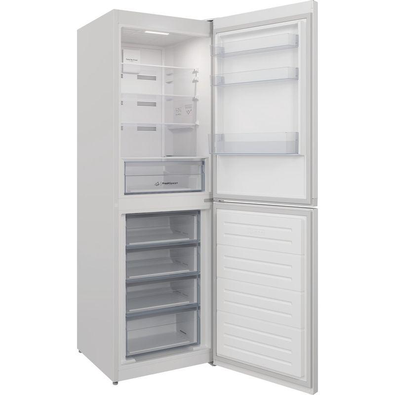 Indesit-Fridge-Freezer-Free-standing-INFC8-50TI1-W-1-White-2-doors-Perspective-open