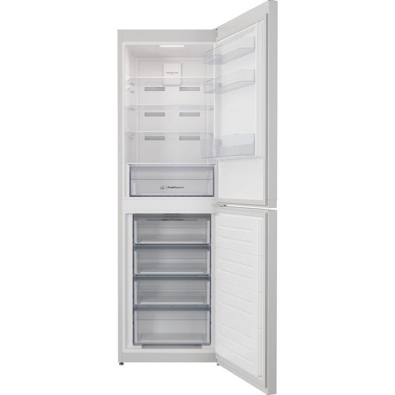 Indesit-Fridge-Freezer-Free-standing-INFC8-50TI1-W-1-White-2-doors-Frontal-open