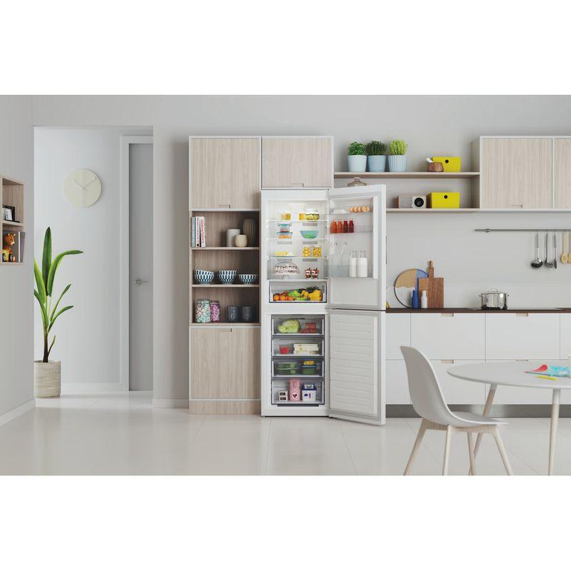 Indesit-Fridge-Freezer-Free-standing-INFC8-50TI1-W-1-White-2-doors-Lifestyle-frontal-open