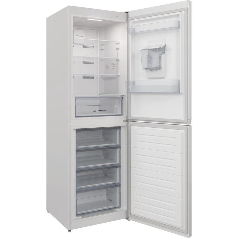 Indesit-Fridge-Freezer-Free-standing-INFC8-50TI1-W-AQUA-1-White-2-doors-Perspective-open