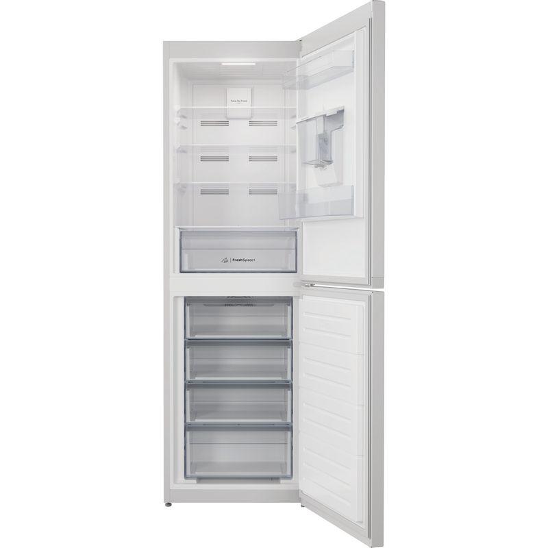 Indesit-Fridge-Freezer-Free-standing-INFC8-50TI1-W-AQUA-1-White-2-doors-Frontal-open