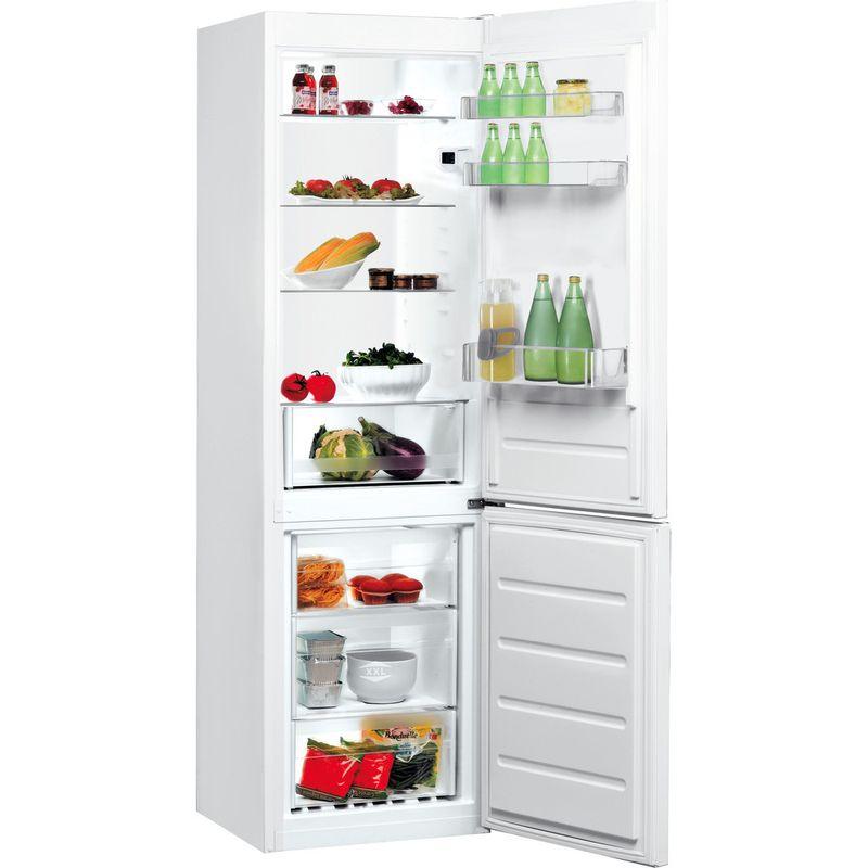 Indesit-Fridge-Freezer-Free-standing-LI8-S1E-W-UK-Global-white-2-doors-Perspective-open