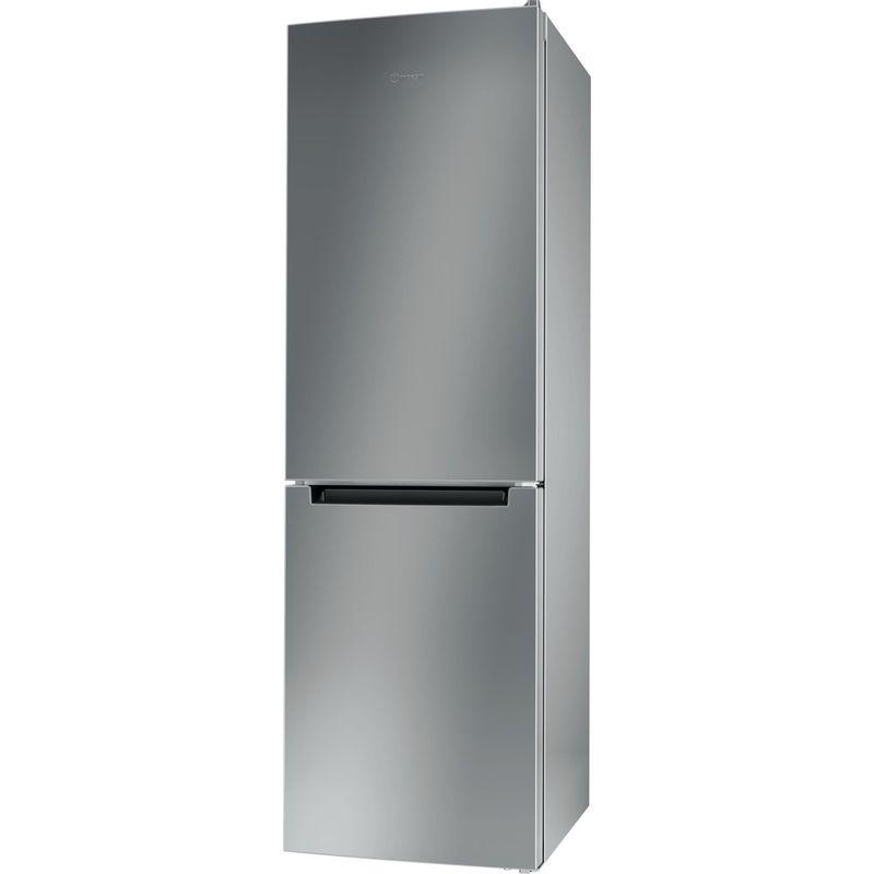 Indesit-Fridge-Freezer-Free-standing-LI8-S1E-S-UK-Silver-2-doors-Perspective