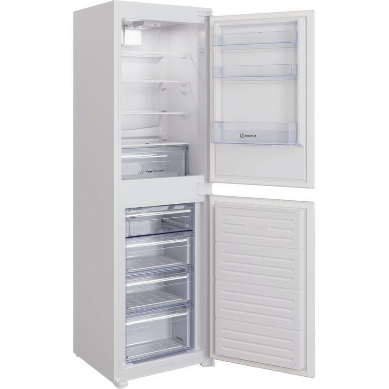 Indesit-Fridge-Freezer-Built-in-IBC18-5050-F1-White-2-doors-Perspective-open