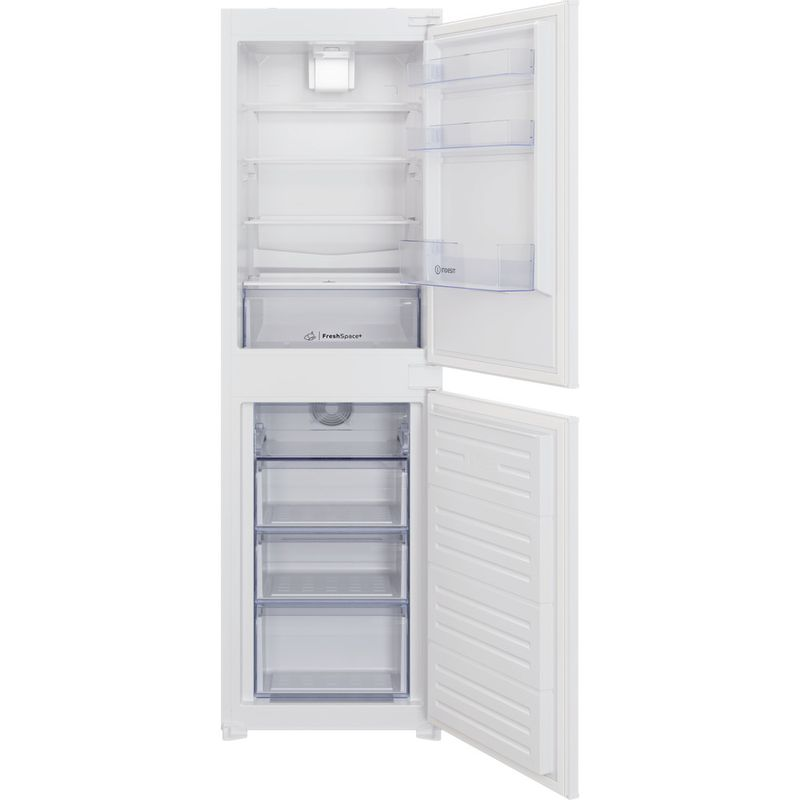 Indesit-Fridge-Freezer-Built-in-IBC18-5050-F1-White-2-doors-Frontal-open