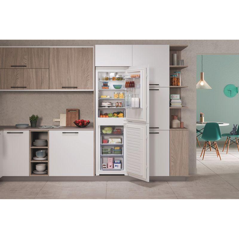 Indesit-Fridge-Freezer-Built-in-IBC18-5050-F1-White-2-doors-Lifestyle-frontal-open