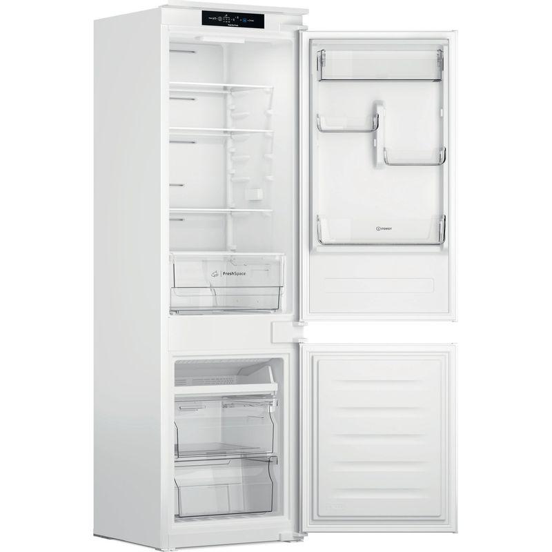 Indesit-Fridge-Freezer-Built-in-INC18-T311-UK-White-2-doors-Perspective-open