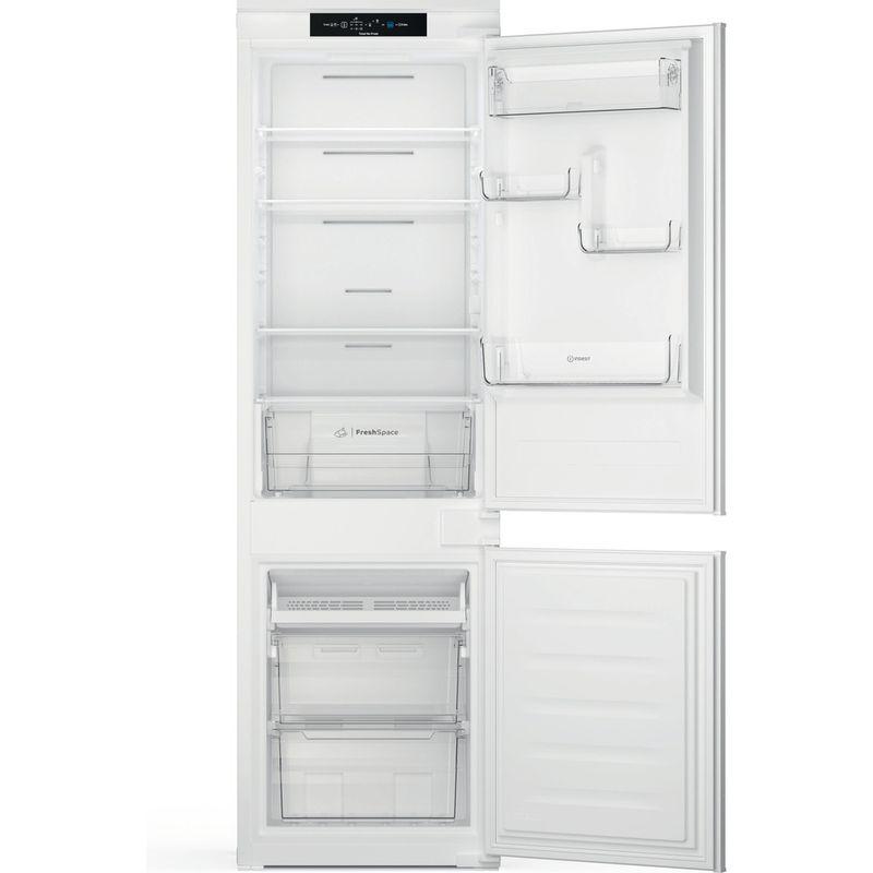 Indesit-Fridge-Freezer-Built-in-INC18-T311-UK-White-2-doors-Frontal-open
