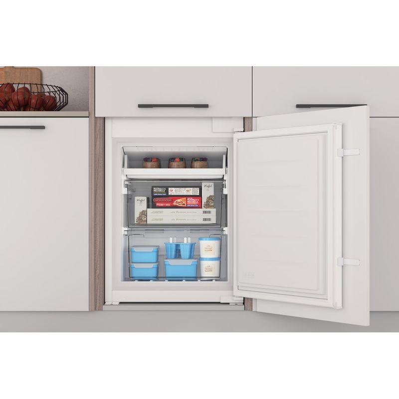Indesit-Fridge-Freezer-Built-in-INC18-T311-UK-White-2-doors-Lifestyle-frontal-open