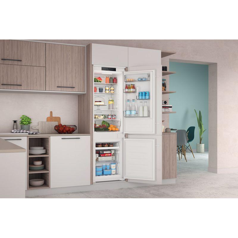 Indesit-Fridge-Freezer-Built-in-INC18-T311-UK-White-2-doors-Lifestyle-perspective-open