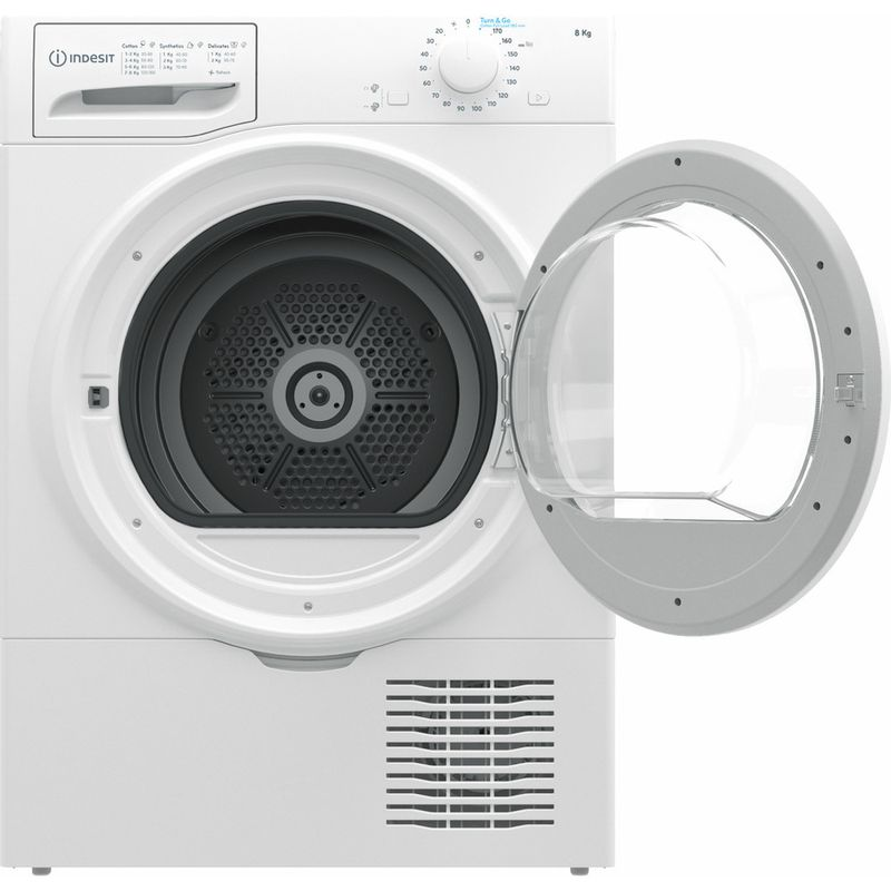 Indesit-Dryer-I2-D81W-UK-White-Frontal-open