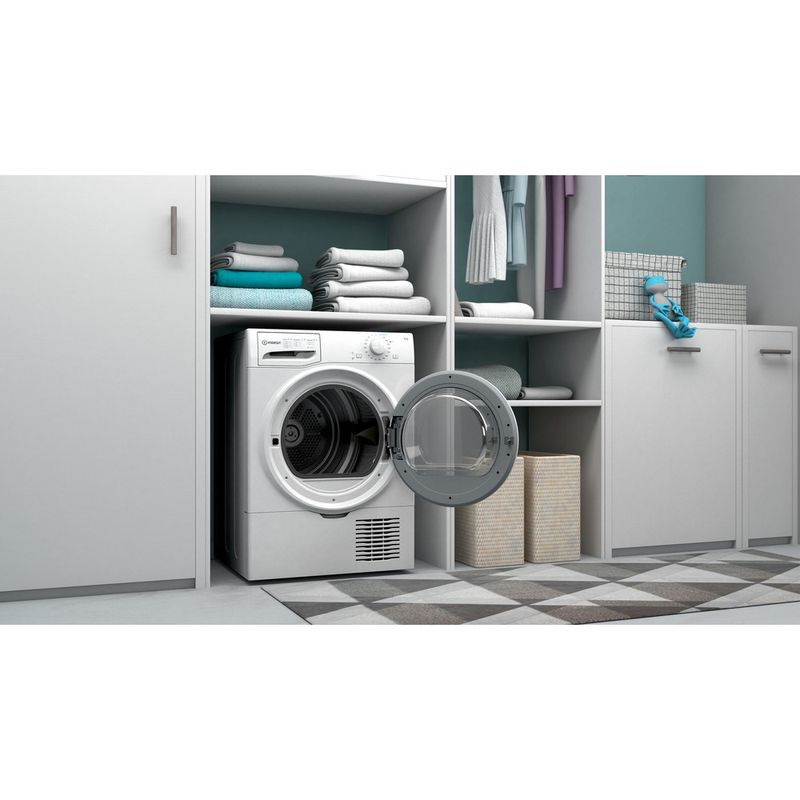 Indesit-Dryer-I2-D81W-UK-White-Lifestyle-perspective-open