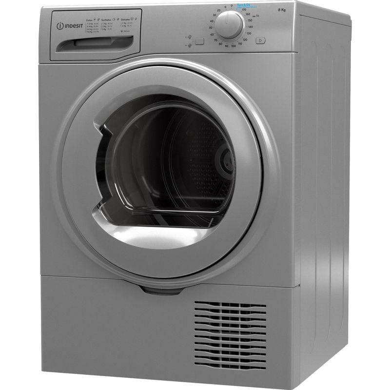 Indesit-Dryer-I2-D81S-UK-Silver-Perspective