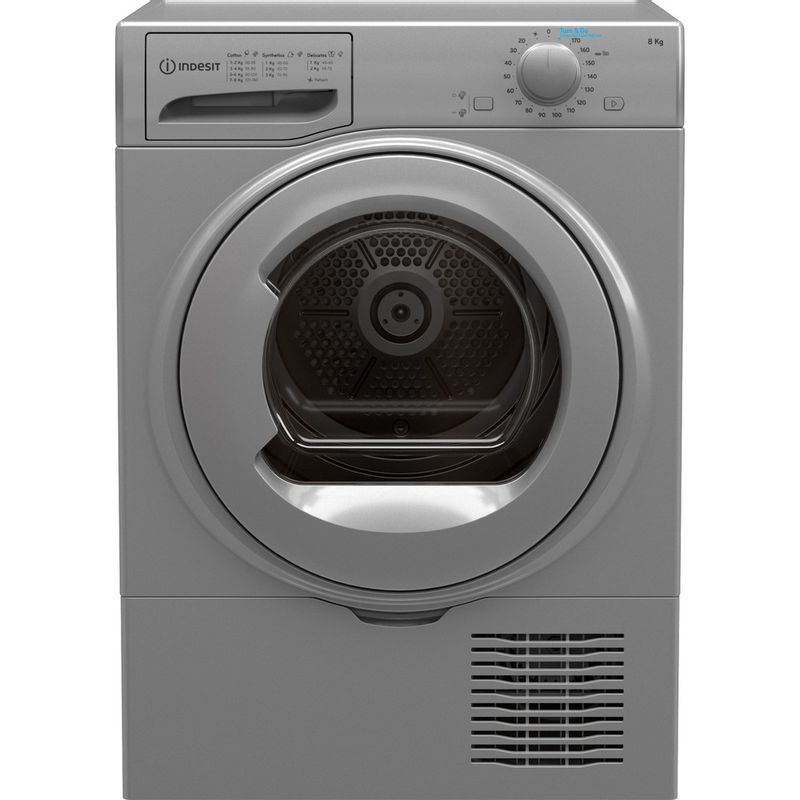 Indesit-Dryer-I2-D81S-UK-Silver-Frontal