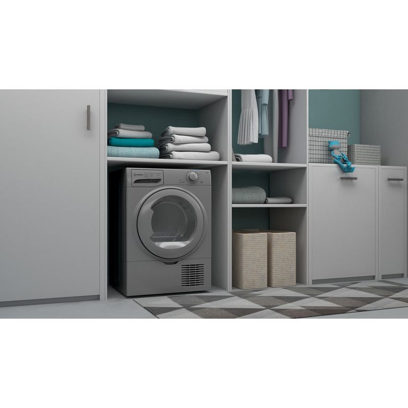 Indesit-Dryer-I2-D81S-UK-Silver-Lifestyle-perspective