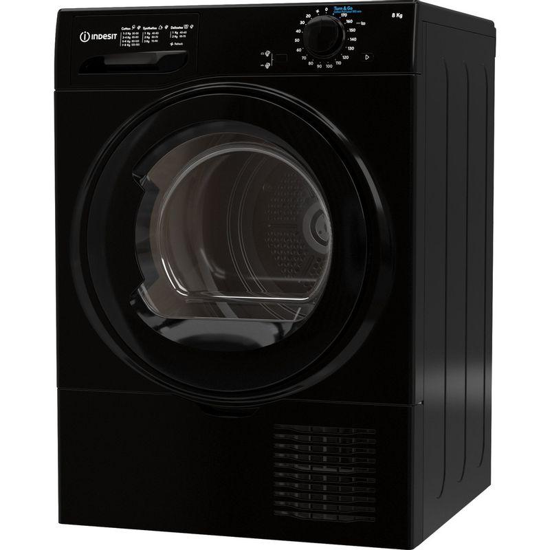 Indesit-Dryer-I2-D81B-UK-Black-Perspective