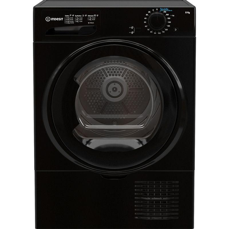 Indesit-Dryer-I2-D81B-UK-Black-Frontal