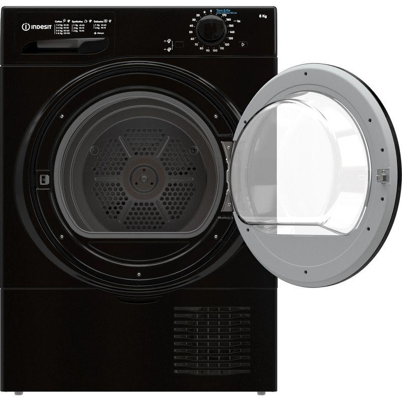 Indesit-Dryer-I2-D81B-UK-Black-Frontal-open