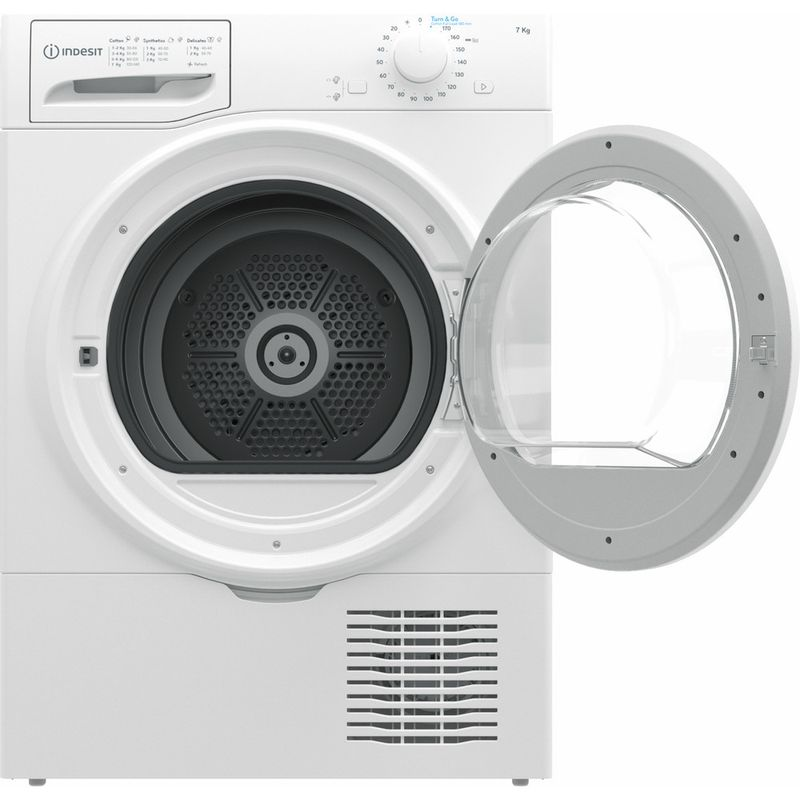 Indesit-Dryer-I2-D71W-UK-White-Frontal-open