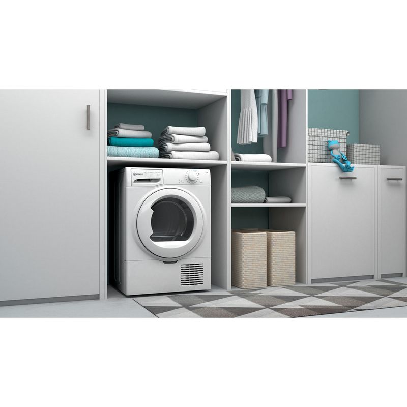 Indesit-Dryer-I2-D71W-UK-White-Lifestyle-perspective