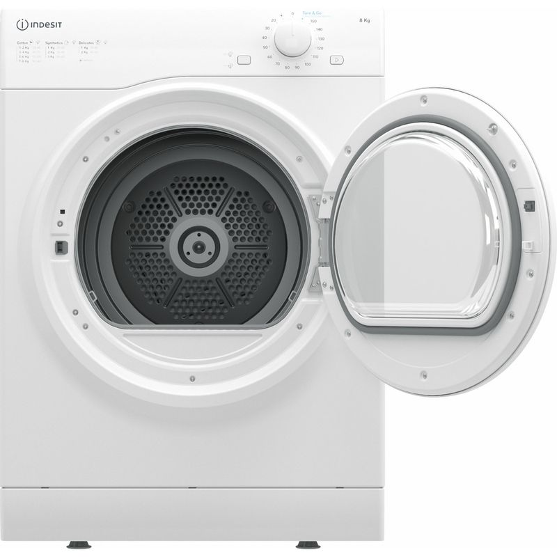 Indesit-Dryer-I1-D80W-UK-White-Frontal-open