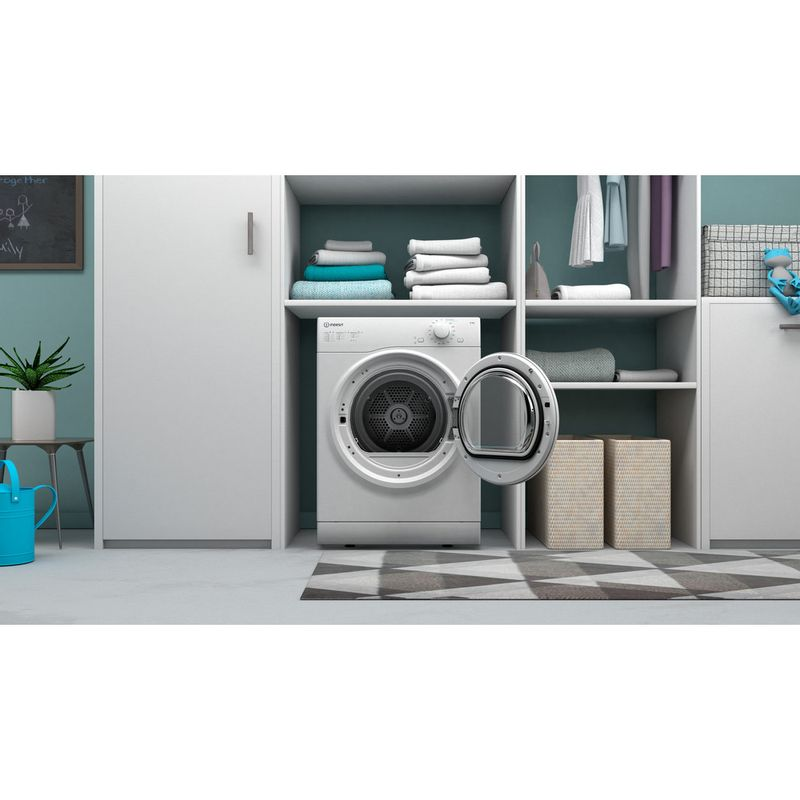 Indesit-Dryer-I1-D80W-UK-White-Lifestyle-frontal-open