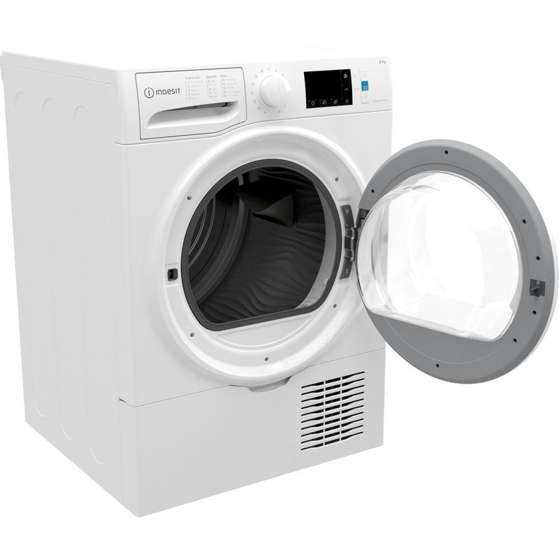 Indesit-Dryer-I3-D81W-UK-White-Perspective-open