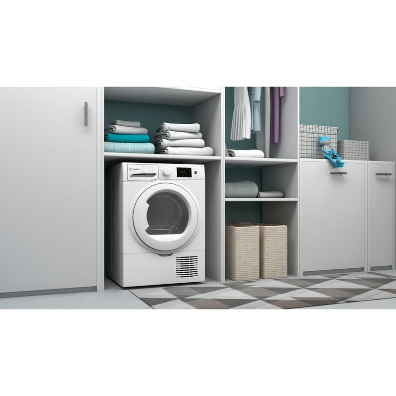 Indesit-Dryer-I3-D81W-UK-White-Lifestyle-perspective