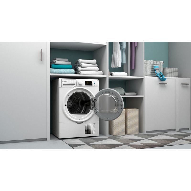 Indesit-Dryer-I3-D81W-UK-White-Lifestyle-perspective-open