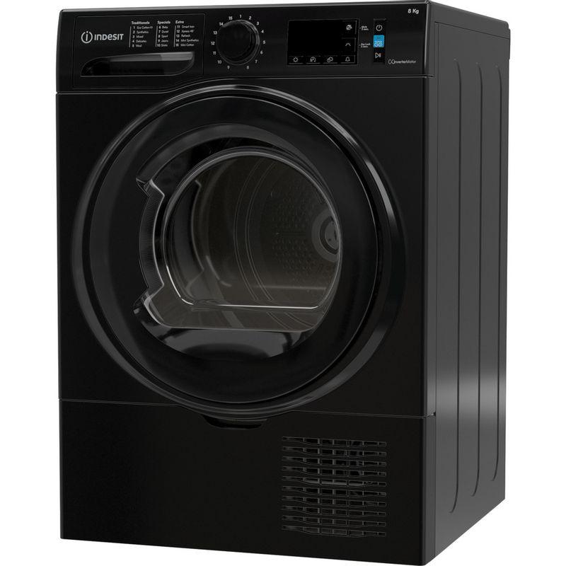Indesit-Dryer-I3-D81B-UK-Black-Perspective