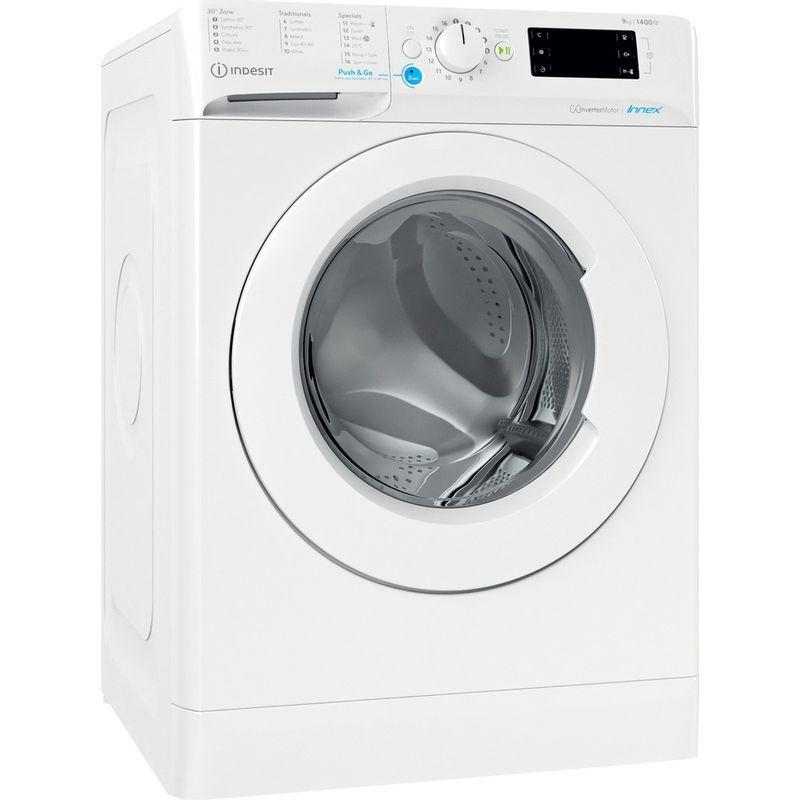 Indesit-Washing-machine-Free-standing-BWE-91485X-W-UK-N-White-Front-loader-B-Perspective