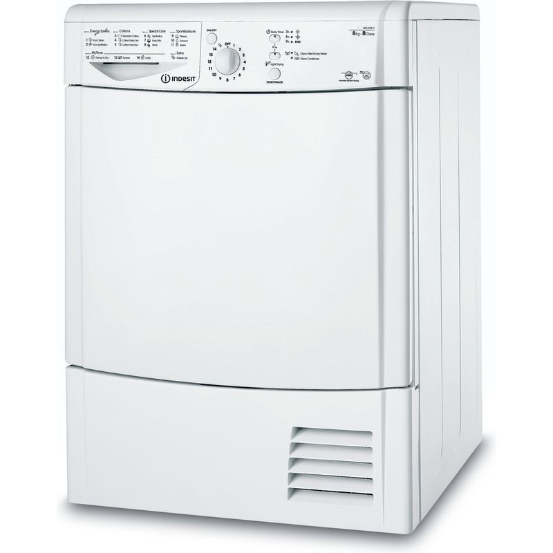 Indesit-Dryer-IDCL-85-B-H--UK--White-Perspective