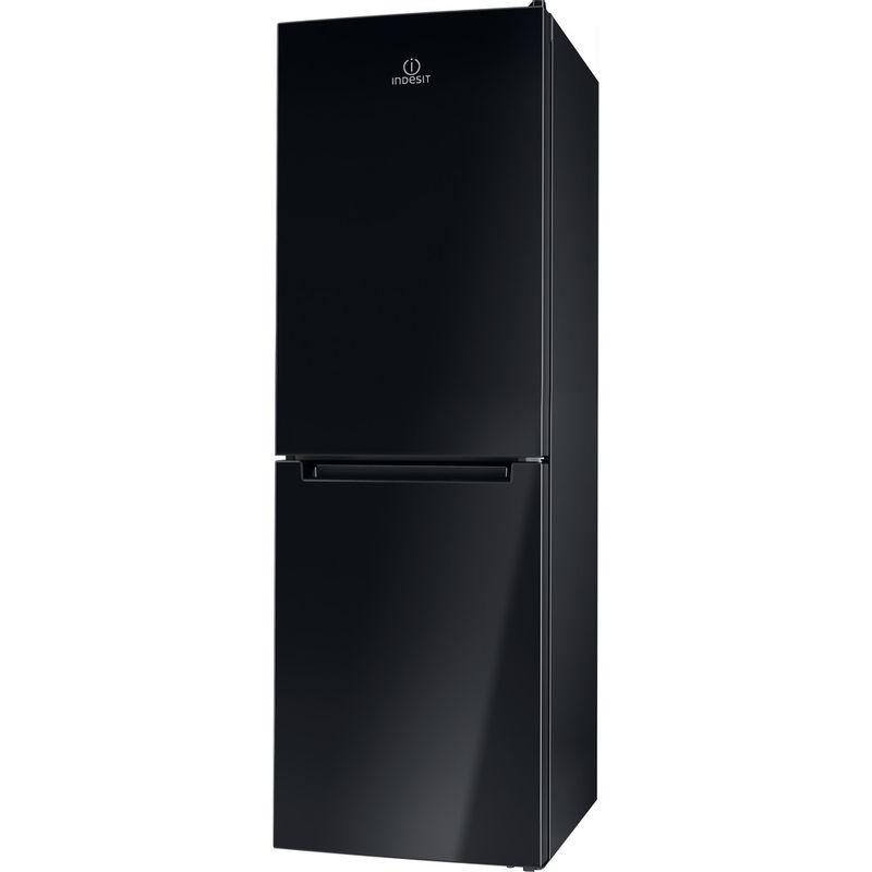 Indesit-Fridge-Freezer-Free-standing-LD70-N1-K-Black-2-doors-Perspective
