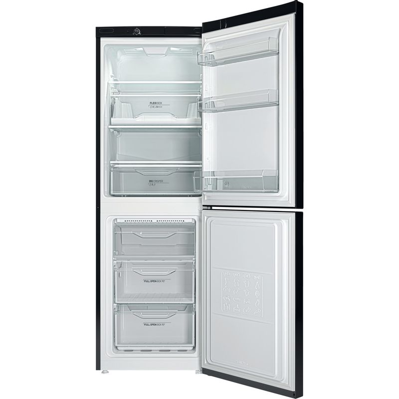 Indesit-Fridge-Freezer-Free-standing-LD70-N1-K-Black-2-doors-Frontal-open