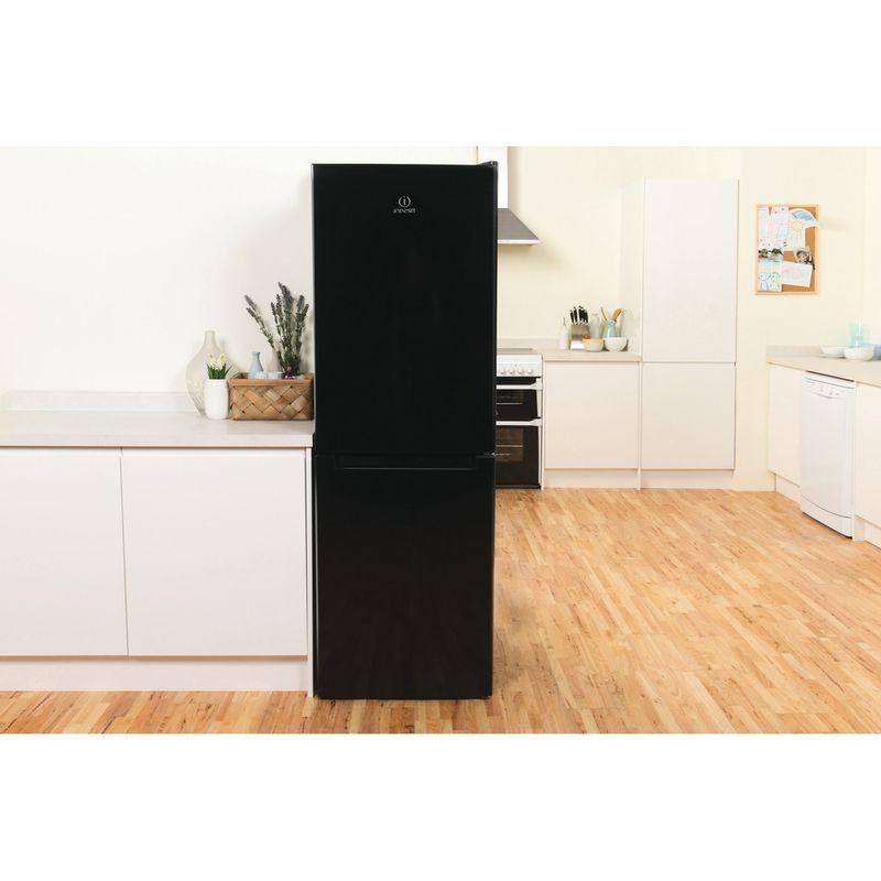 Indesit-Fridge-Freezer-Free-standing-LD70-N1-K-Black-2-doors-Lifestyle-frontal