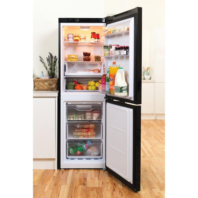 Indesit-Fridge-Freezer-Free-standing-LD70-N1-K-Black-2-doors-Lifestyle-frontal-open