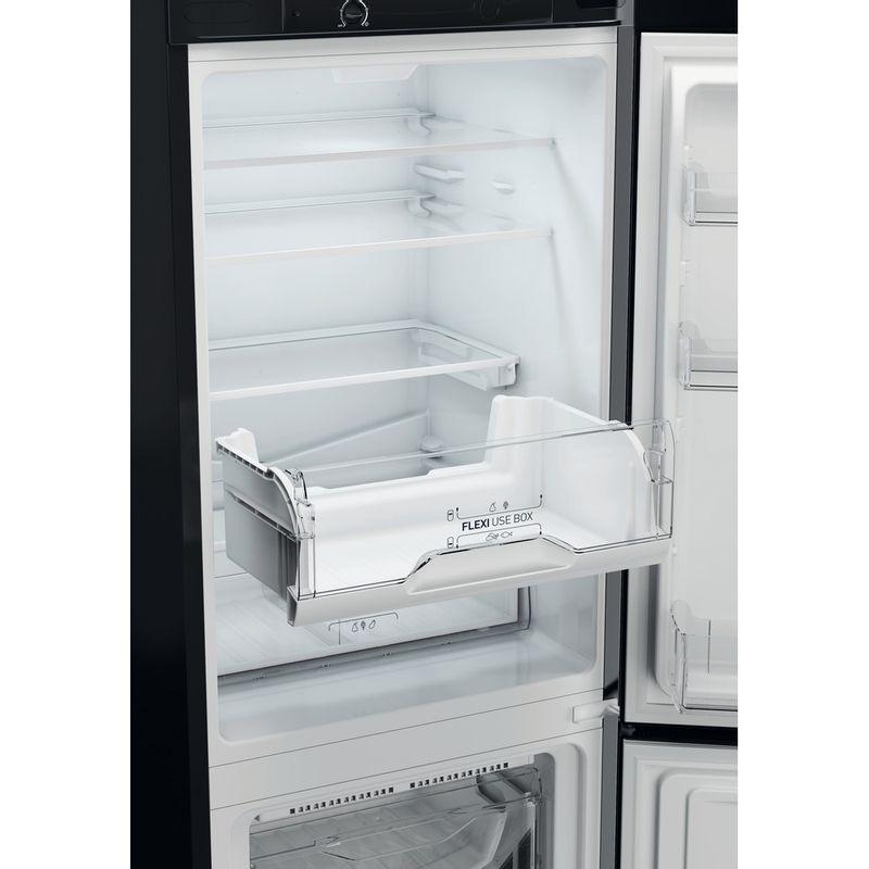Indesit-Fridge-Freezer-Free-standing-LD70-N1-K-Black-2-doors-Drawer
