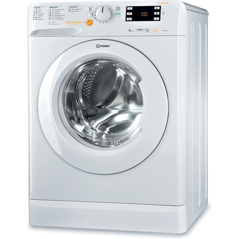 Indesit-Washer-dryer-Free-standing-XWDE-751480X-W-UK-White-Front-loader-Perspective