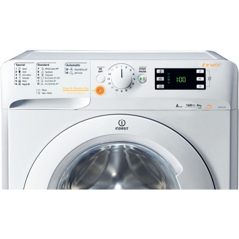 Indesit-Washer-dryer-Free-standing-XWDE-751480X-W-UK-White-Front-loader-Control-panel