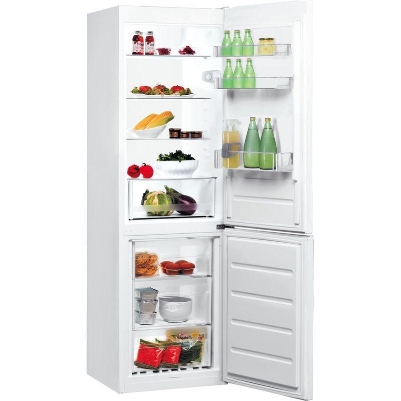 Indesit-Fridge-Freezer-Free-standing-LR8-S1-W-UK-White-2-doors-Perspective-open
