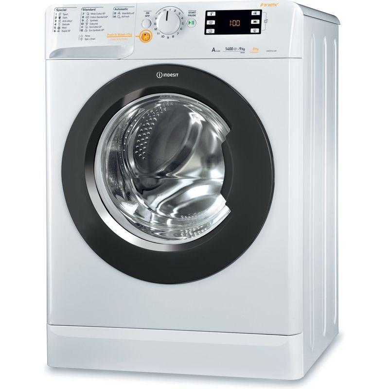 Indesit-Washer-dryer-Free-standing-XWDE-961480X-WKKK-UK-White-Front-loader-Perspective
