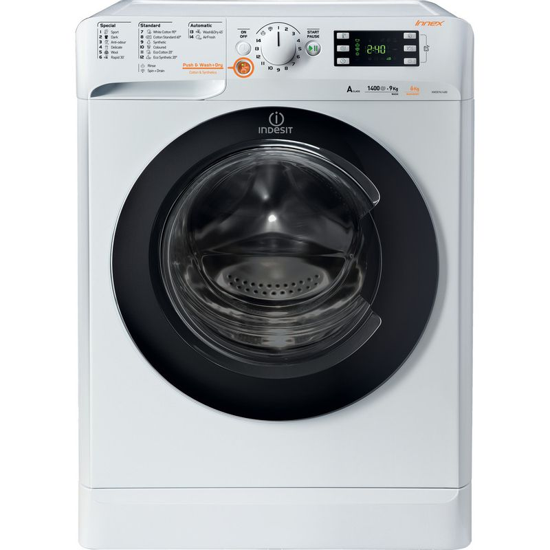 Indesit-Washer-dryer-Free-standing-XWDE-961480X-WKKK-UK-White-Front-loader-Frontal
